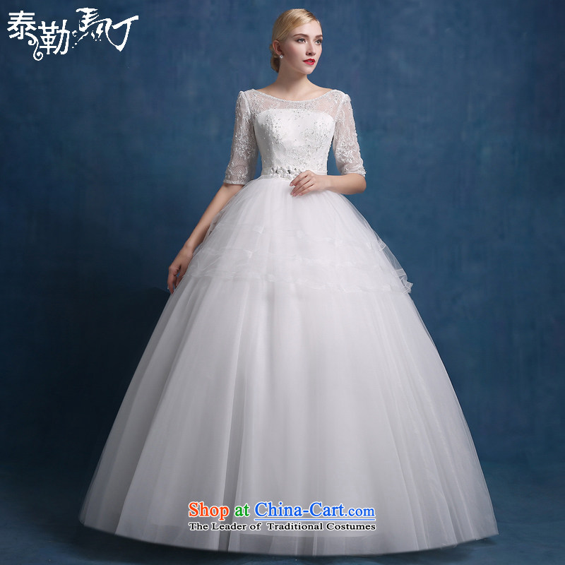 Martin Taylor bride wedding dresses engraving lace align to the word crowsfoot shoulder princess wedding Korean Style New autumn 2015 Sau San White _sent three kit_ XL
