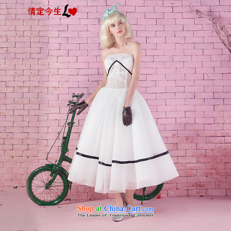 Love of the overcharged new fall white strap video thin translucent gauze stage performances and Stylish service chest dresses made the white spot concept
