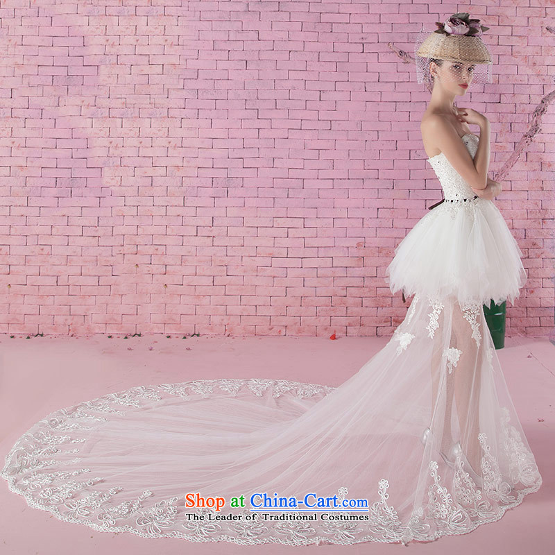 Love of the life of the new 2015 Autumn Korean lace princess bon bon skirts and chest diamond anointed chest video thin tail short of a wedding dress white XS, love of the overcharged shopping on the Internet has been pressed.
