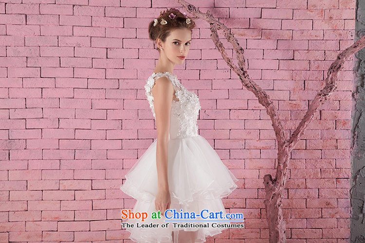 Love of the overcharged new Word 2015 round-neck collar shoulder Korean saika short, bon bon bride Wedding Dress Short white, wedding white L picture, prices, brand platters! The elections are supplied in the national character of distribution, so action, buy now enjoy more preferential! As soon as possible.