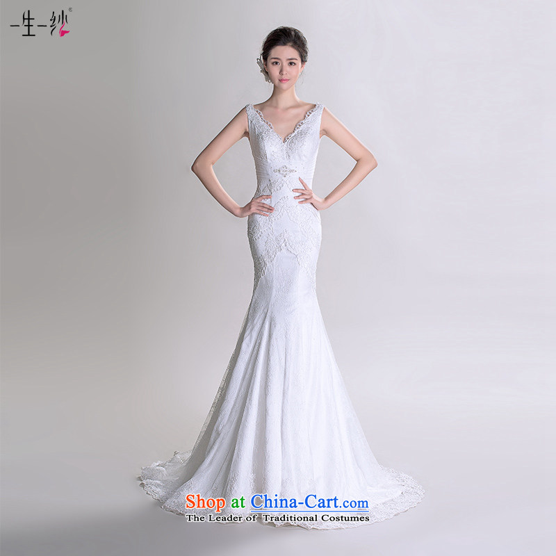 Chen Xi Jing Dong fell in love with the same ultra-template shoulders crowsfoot wedding tail?2015 new bride wedding dress autumn?402501289??30 Day White 155_82A pre-sale