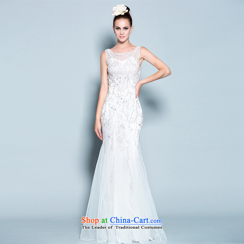 A lifetime of wedding dresses the light of life?2015 new upscale Pearl White Diamond Wedding Banquet dresses bride 30150821 white?165/88A thirtieth day pre-sale