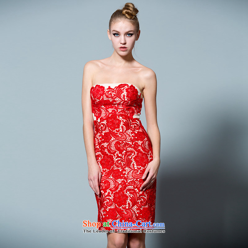 The bride booking the wedding-dress bows services 2015 new autumn and winter bride dresses lace short_ 30220913?170_92A red thirtieth day pre-sale