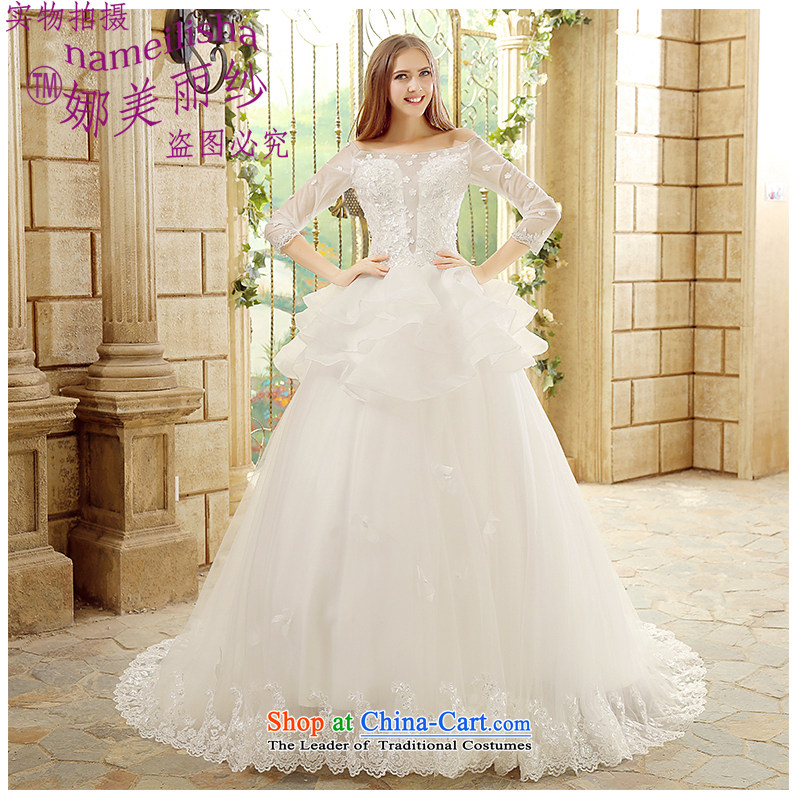 The beautiful new 2015 yarn a field in Small cuff shoulder tail wedding fashion marriages wedding hand-ruff sexy beauty straps wedding White�XXL