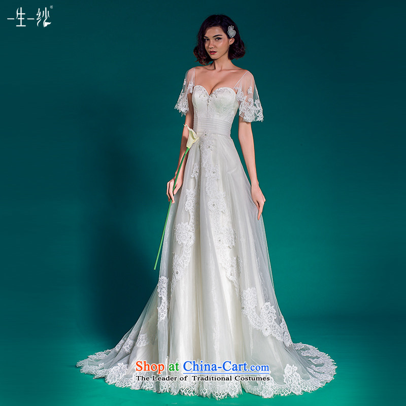 A lifetime of pregnant women wedding package shoulder larger mm thick trailing Wedding�2015 Autumn sleeves removable 50150087�155/80A white thirtieth day pre-sale
