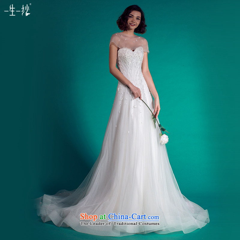 A lifetime of wedding dresses 2015 Autumn tail anointed chest tail wedding removable shawl�401501349��30 Day White 170/92A pre-sale