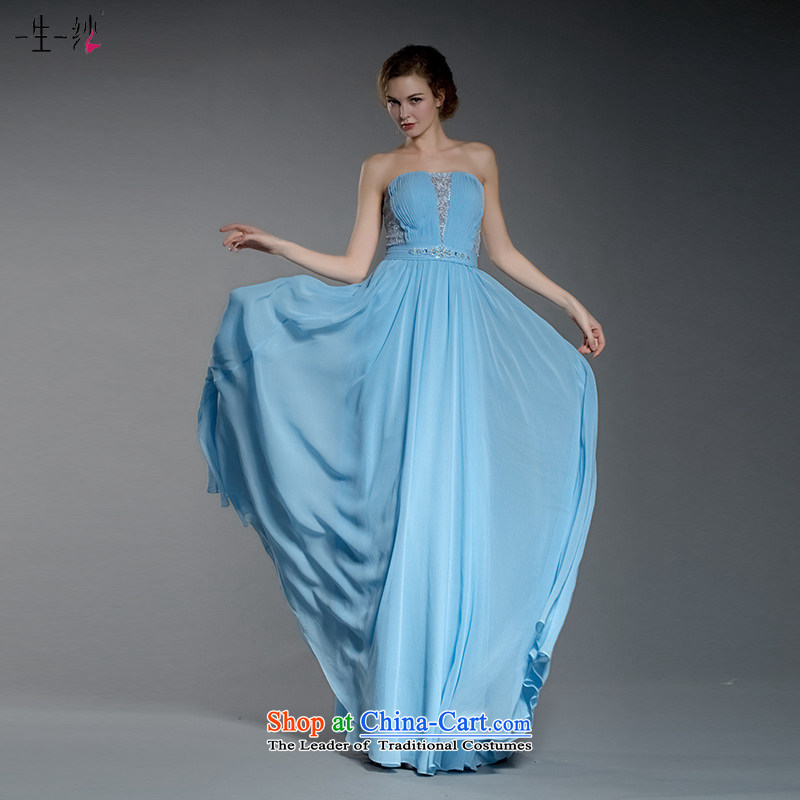 A lifetime of 2015 New Cinderella blue, evening dresses bridesmaid dress lace erase annual Sau San dress 402501408 chest?155_82A blue 30 days pre-sale