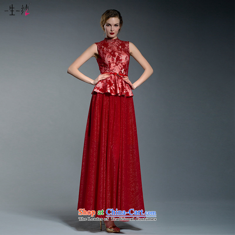 A lifetime of 2015 the new bride dress autumn removable split bows dress dresses 2015 402401395 red?180/100A New 30 days of pre-sale