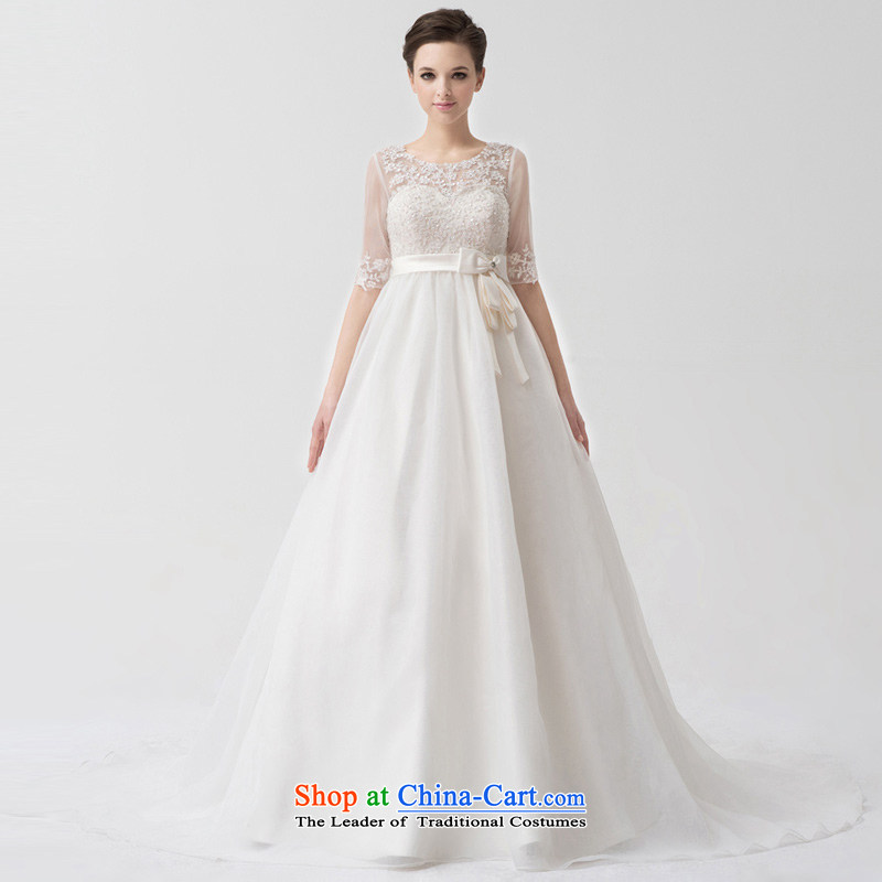 A lifetime of wedding dresses?2015 new high-rise in large cuff Korean pregnant women trailing?white?175_96A NW24067 wedding day 30 pre-sale