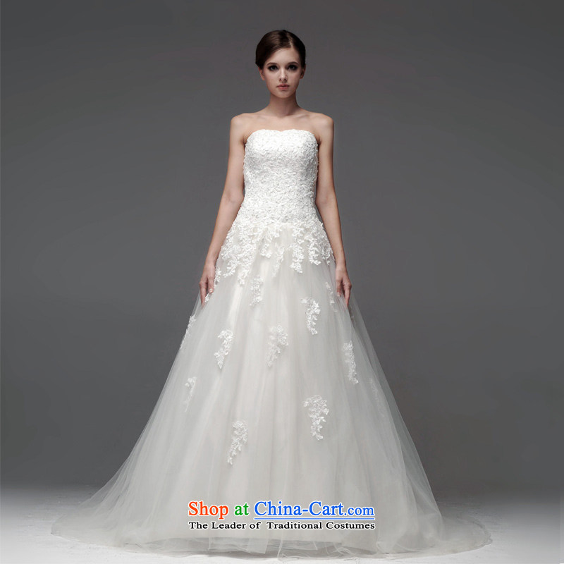 A lifetime of 2015 New wedding dresses lace anointed chest lace Foutune of thin A skirt graphics to align the wedding?NW0708??165/90A white 30 days pre-sale