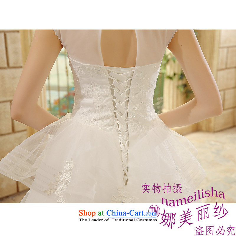 The beautiful new 2015 yarn a field to align the shoulder marriages wedding video thin Sau San tie sexy raincoats floor terrace photography bon bon skirt wedding White XL, the beautiful yarn (nameilisha) , , , shopping on the Internet