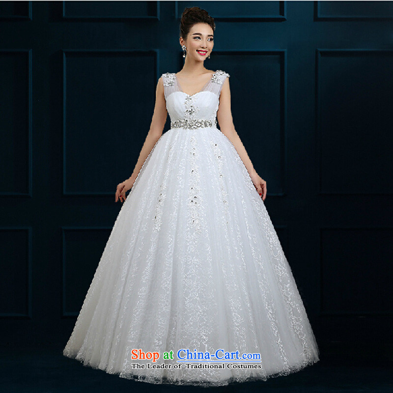 Pure Love bamboo yarn luxury 2015 new bride wedding Korean large graphics thin pregnant women wedding photography show shoulders upscale wedding White�XL
