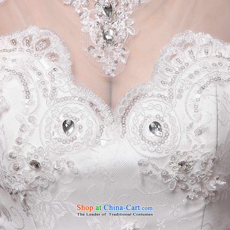 The new 2015 hannizi spring and summer Korean word stylish elegance lace brides shoulder wedding White?M
