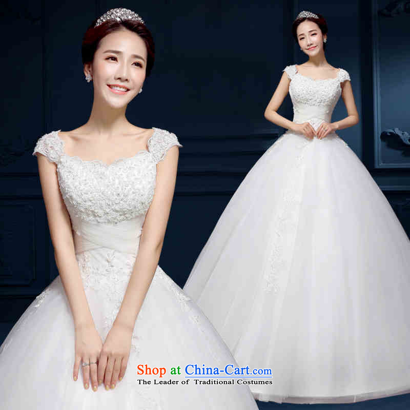The spring and summer of 2015 New HANNIZI stylish lace Princess Bride Skirt holding Korean style white wedding White?XXL