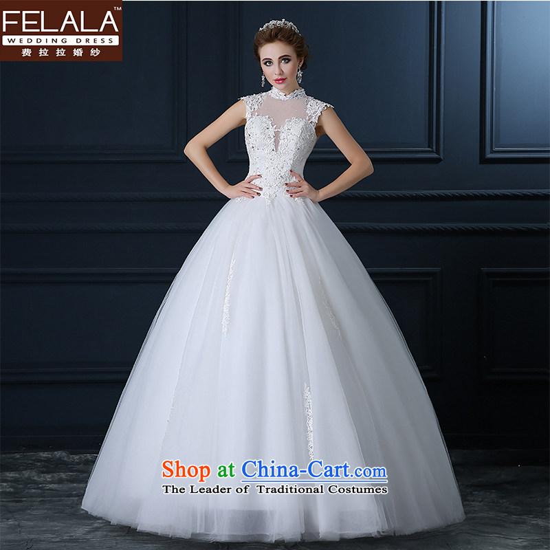 Ferrara wedding day Korean word to align the shoulder white tail lace dress skirt 2015 Summer New�S(1 feet 9)