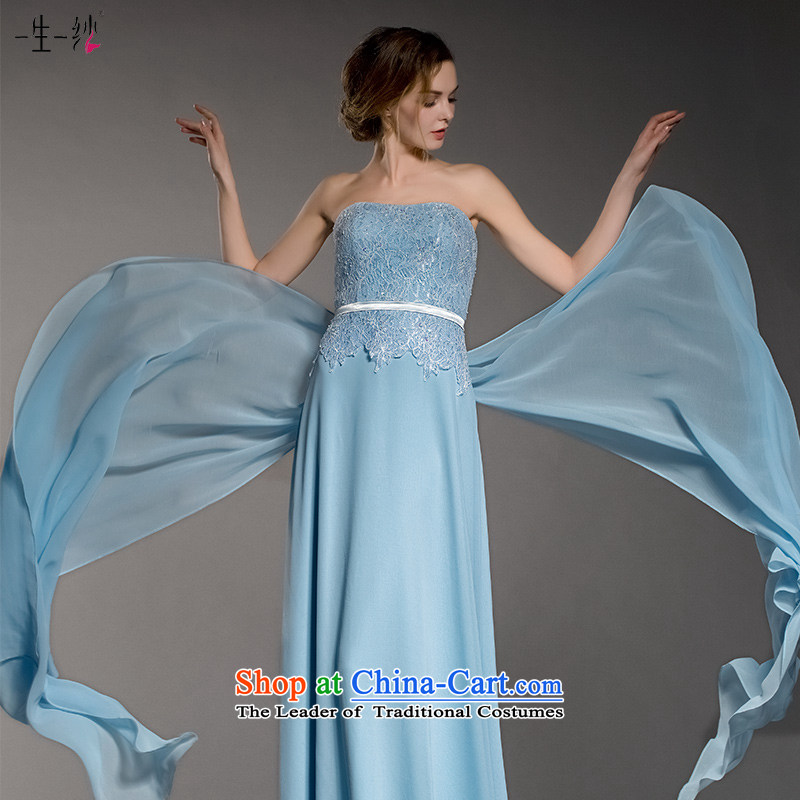 A lifetime of 2015 New Cinderella blue dress with a chest banquet annual lap dress video thin bridesmaid dress 402501404�30 day blue 160/84A pre-sale
