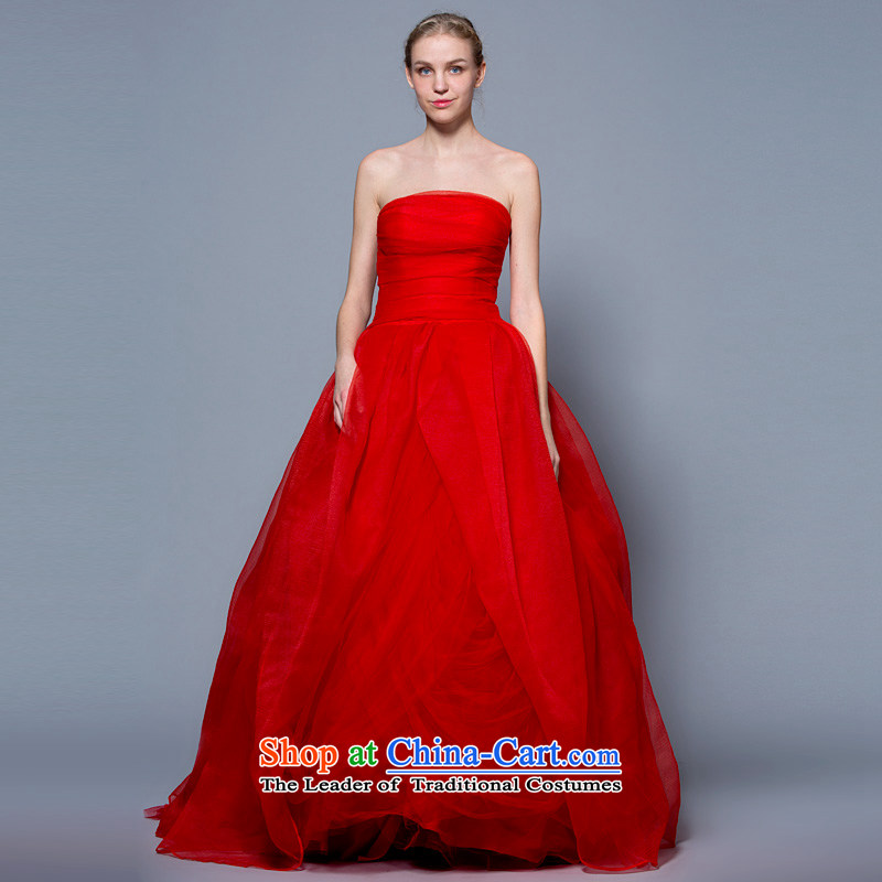 A lifetime of wedding dresses�2015 Korean style wedding dress bon bon pregnant women video thin wedding autumn and winter large marquee to skirt red�170/92A thirtieth day pre-sale