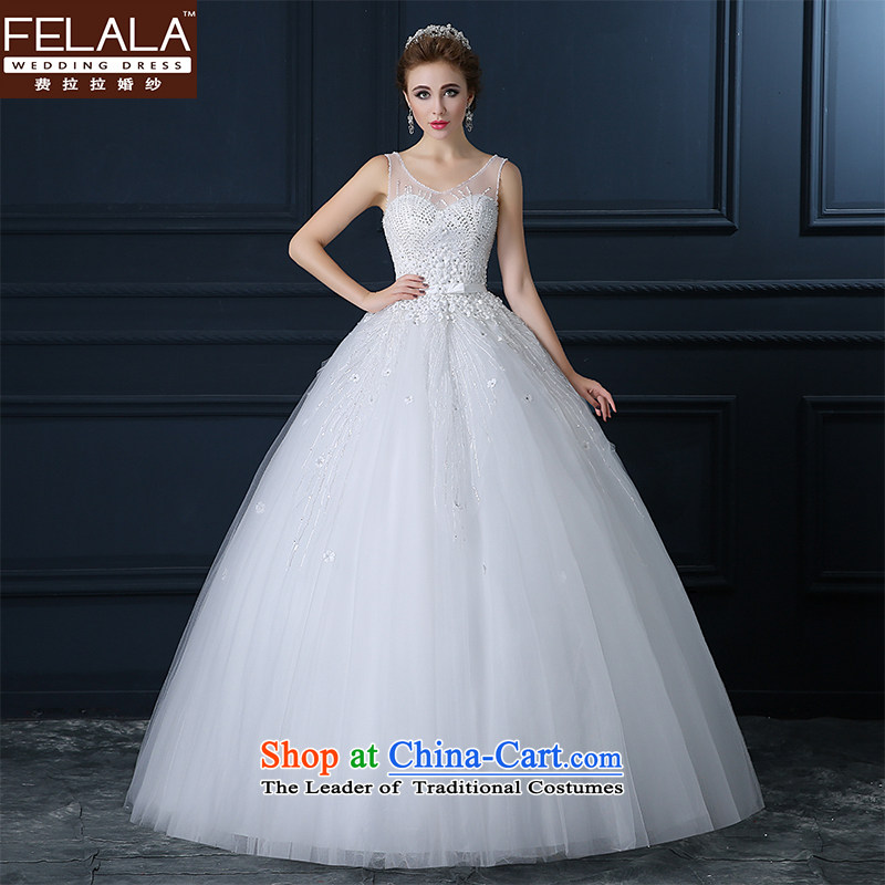 Ferrara wedding dresses 2015 new large shoulders Top Loin of Ms. thin Korean graphics marriages marriage wedding dress?XL_2 gauge 2