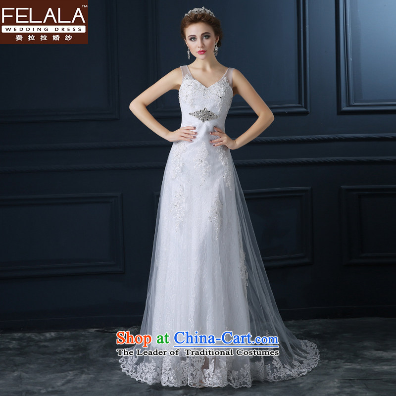 Ferrara?autumn 2015 new wedding dresses A skirt marriages to align the white strap wedding dress stylish?XL(2 thin gauge 2 Video