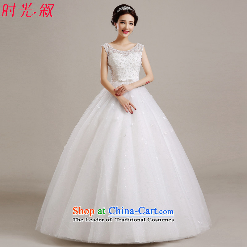 The Syrian Arab Republic and the Republic of Korea time wedding dress 2015 new autumn and winter pregnant women Korean wedding bride lace video thin large Asian Layout Align to align the shoulder shoulders field to wedding White?XXL