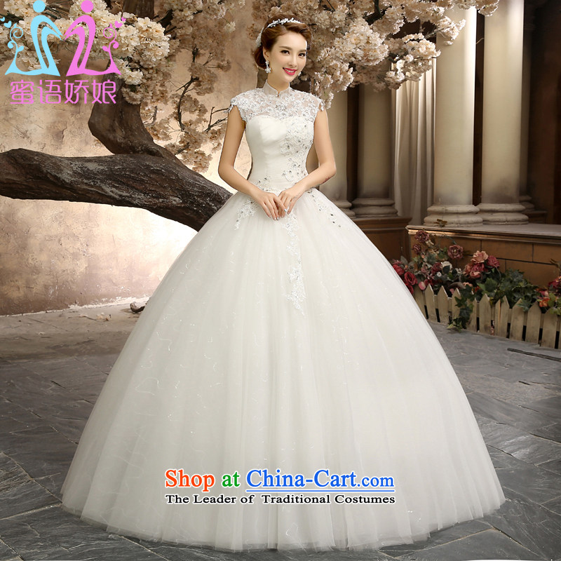 Talk to Her Wedding Dress 2015 New Sheikh Palace retro straps to align the trendy marriages white out of White�XXL