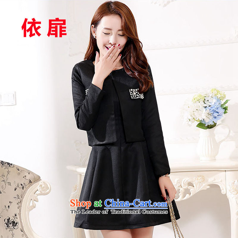 According to the bi?2015 autumn and winter new marriages bows to the betrothal back door banquet dress Red Dress Short black?XXXL)