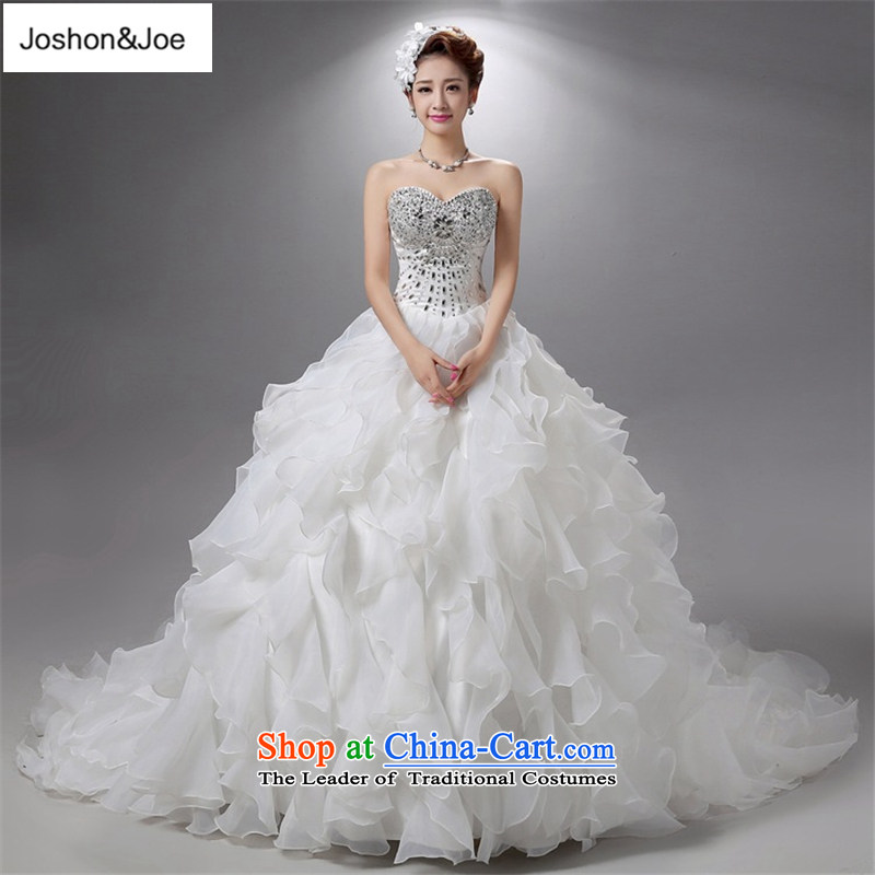 Joshon&joe?female wedding dresses winter grants gross shawl billowy flounces cake bon bon skirts and chest stylish wedding dresses tail)?S