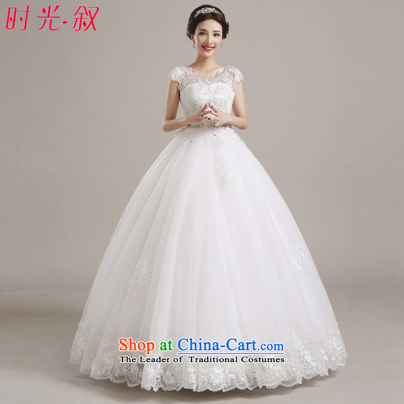 Time Syria of�autumn and winter 2015 new pregnant women high wedding dresses waist wedding bride, Japan and the Republic of Korea to align the large shoulders thick mm video thin wedding White�M