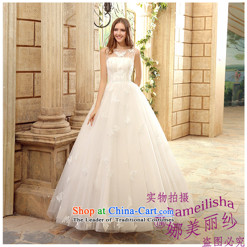 The beautiful yarn shoulders to align the bride wedding stylish and simple elegance of Sau San video thin bow tie marriage wedding Hand-stitched pearl nail wedding code made White XL