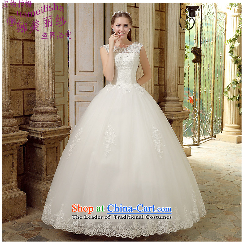The beauty of new stylish double by 2015 your shoulders to wedding lace Sau San tie bride wedding wedding Korean floor, photography and the factory outlets for White�XXL