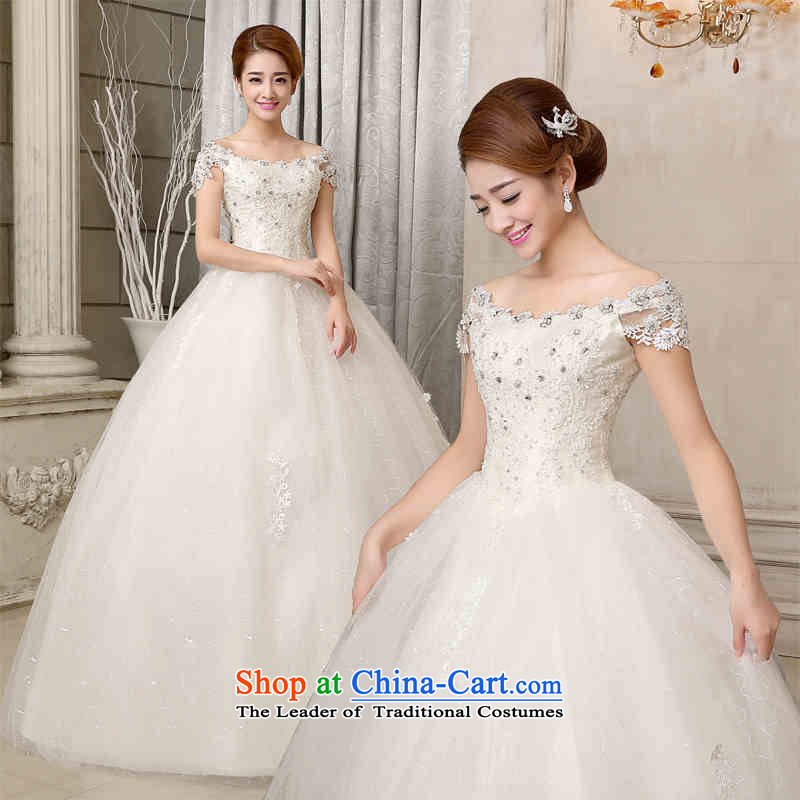 2015 new stylish HANNIZI marriages white wedding minimalist Sau San lace Princess Skirt holding white�L