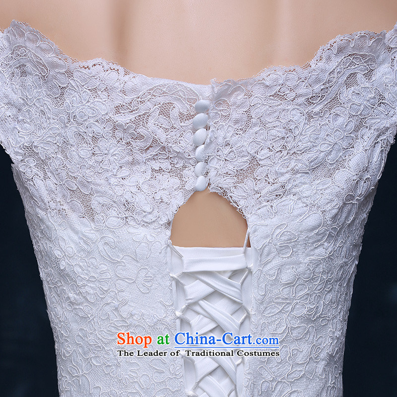 Hannizi 2015 stylish and simple large Sau San support Korean-style skirts princess lace straps bride wedding White?XL