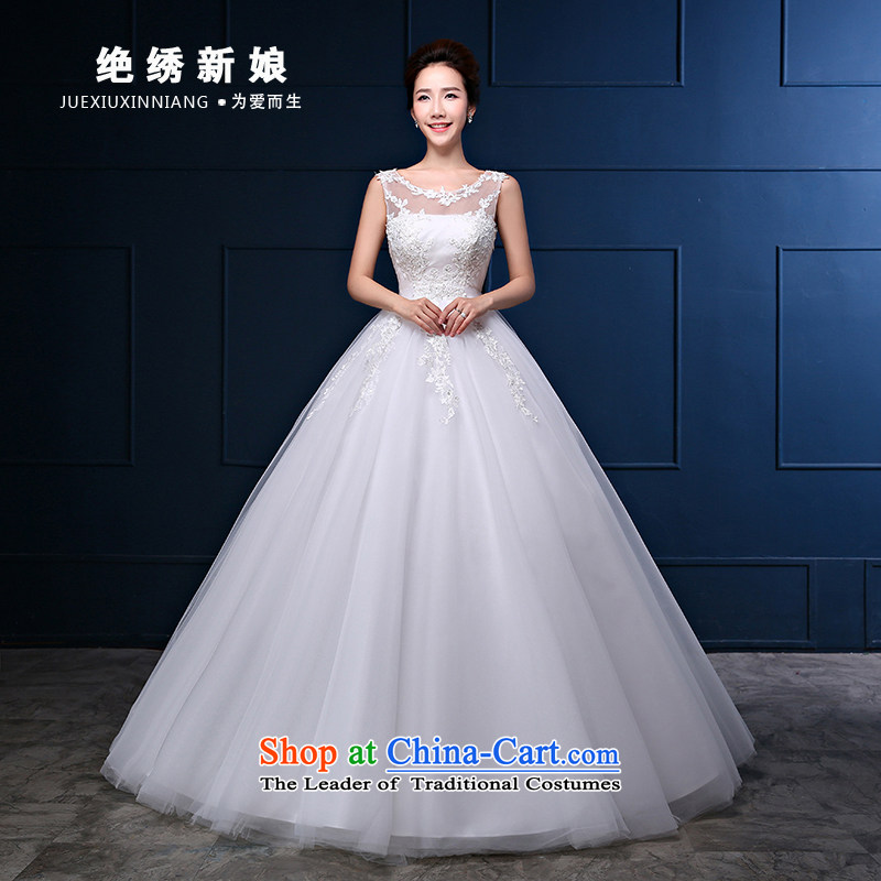 Embroidered is the�new Marriage bride 2015 wedding dresses lace a shoulder shoulders Korean to align the princess retro white tailored does not allow