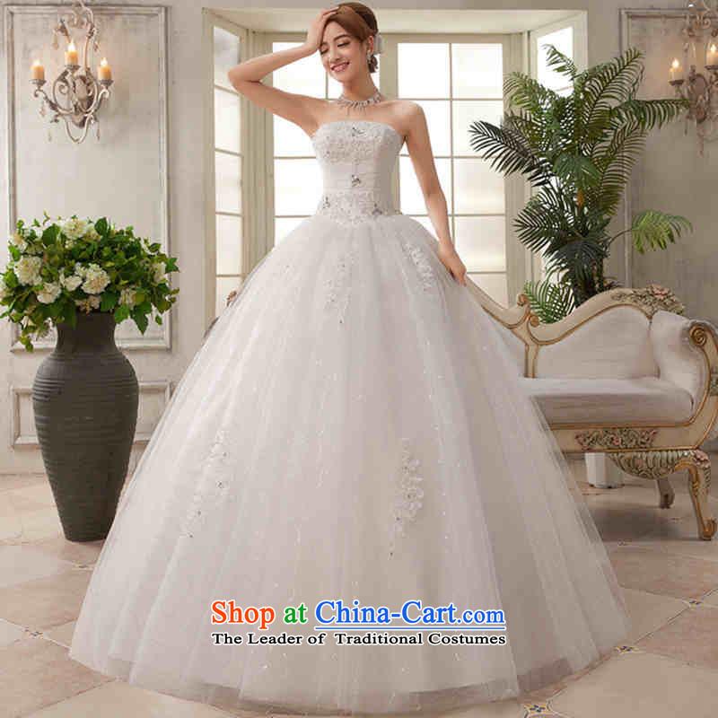Hannizi 2015 stylish and simple large Sau San Korean straps Princess Mary Magdalene chest of shoring skirt white wedding White?XL