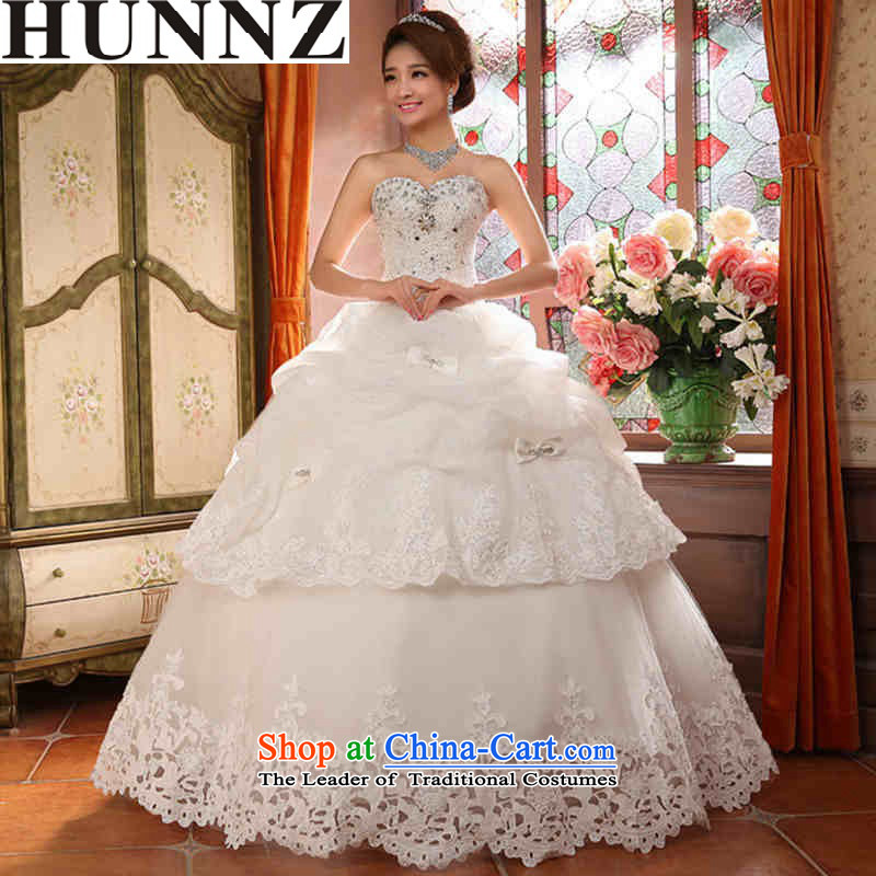 Hunnz 2015 is simple and stylish large Sau San bride straps Princess Skirt holding Korean style with white wedding chest?XL