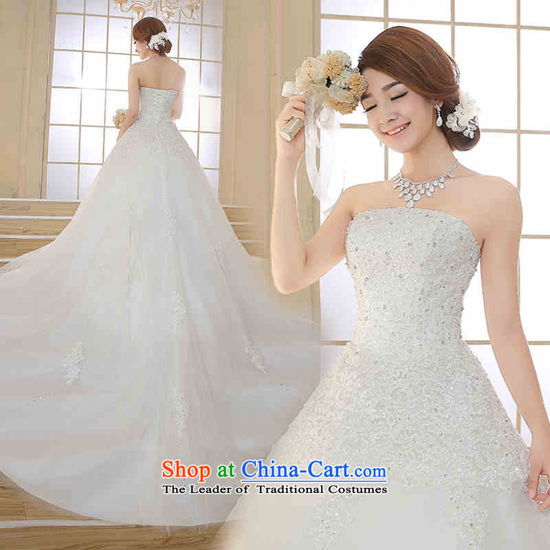 Hannizi 2015 stylish and simple stylish large Sau San long spring and summer and chest bride wedding white?S