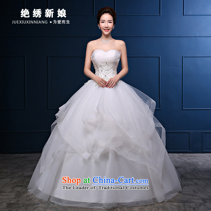 Embroidered is by no means a bride wedding dresses in the summer and autumn of 2015, new marriages stylish anointed chest lace to align the minimalist Korean bon bon skirt White�XXL