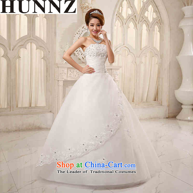 2015 Long Euro HUNNZ root yarn straps and chest Korean Princess Bride wedding dress party White�XXL