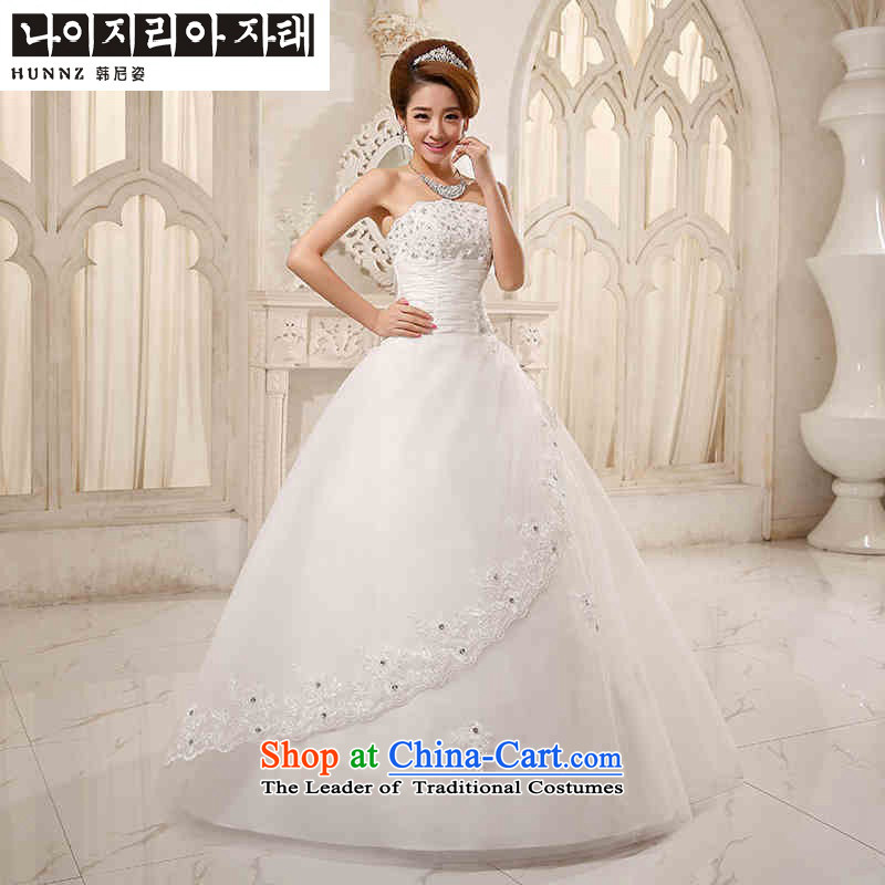 Hannizi 2015 stylish and simple large Sau San Korean OSCE root yarn straps and chest bride wedding White?XXL