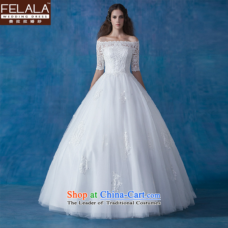 Ferrara wedding word shoulder graphics thin wedding Tail_align to wedding dress winter wedding dresses marriage to align the new bon bon skirt聽M_2 feet_