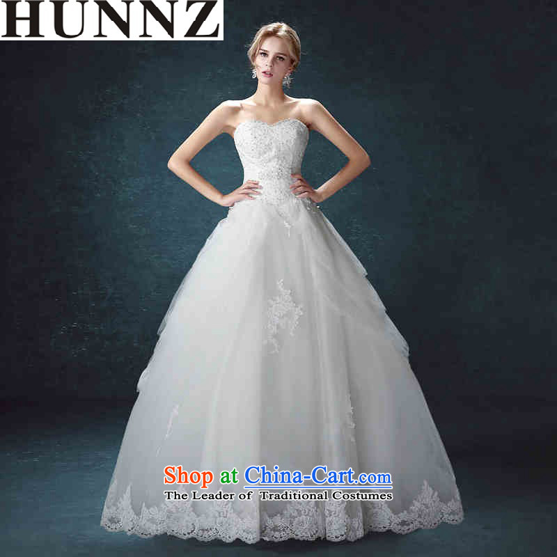 Hunnz long-won by 2015 and chest straps is simple and stylish large Sau San bride wedding white?L