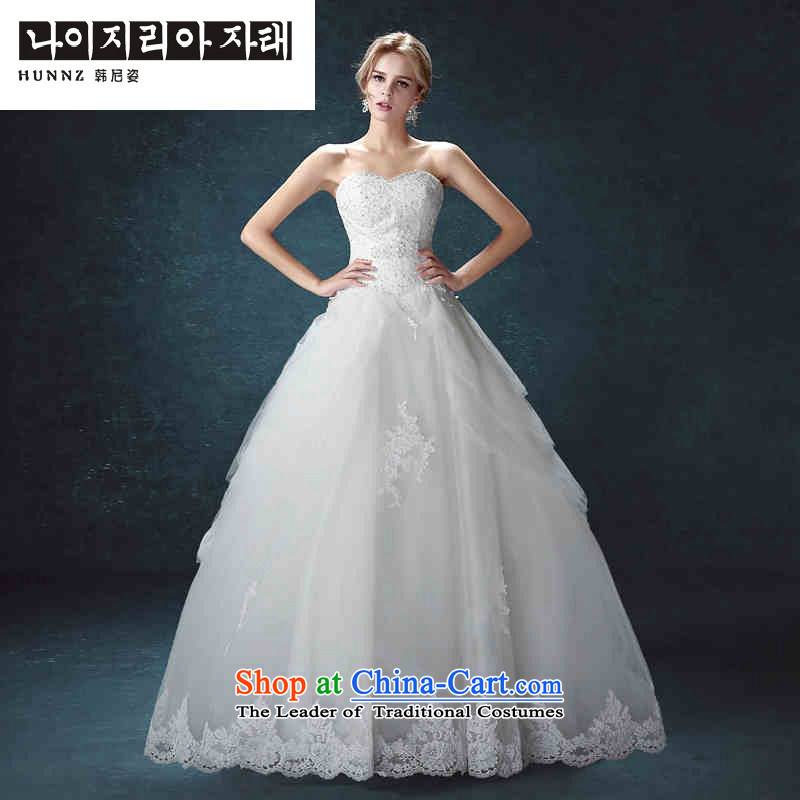 Hannizi 2015 stylish and simple large Sau San tie with Chest Korean brides wedding White聽M