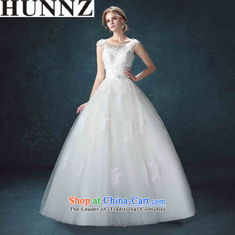 2015 Long one HUNNZ field shoulder strap style palace is simple and stylish large Sau San bride wedding White?XXL