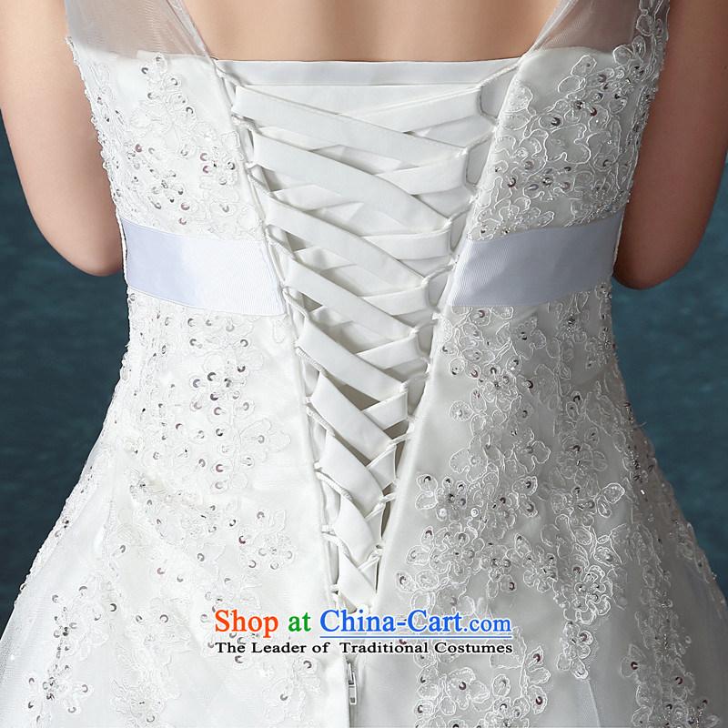 Hunnz long 2015 lace a small shoulder tail field elegant minimalist straps bride wedding white聽M,HUNNZ,,, shopping on the Internet