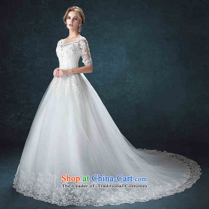 2015 Long dresses HUNNZ slotted shoulder the new simple and stylish large Korean straps wedding bride trailing?S