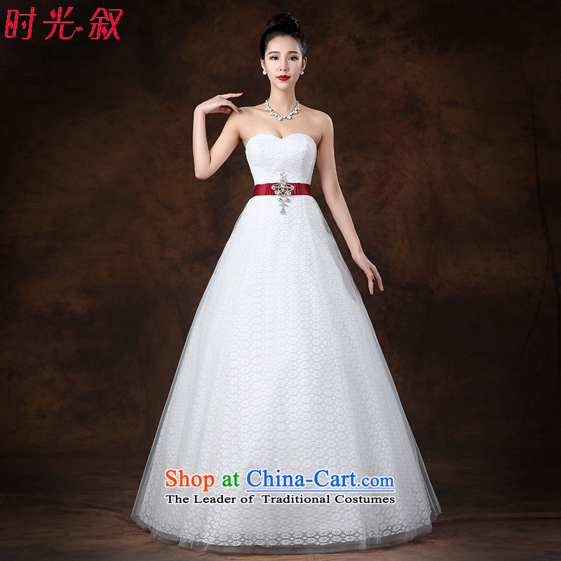 The Syrian Arab Republic 2015 Fall Time Korean, Japanese, and ROK bride video thin wiping the chest A skirt A swing wedding straps embroidery Phoenix align to wedding winter XXL