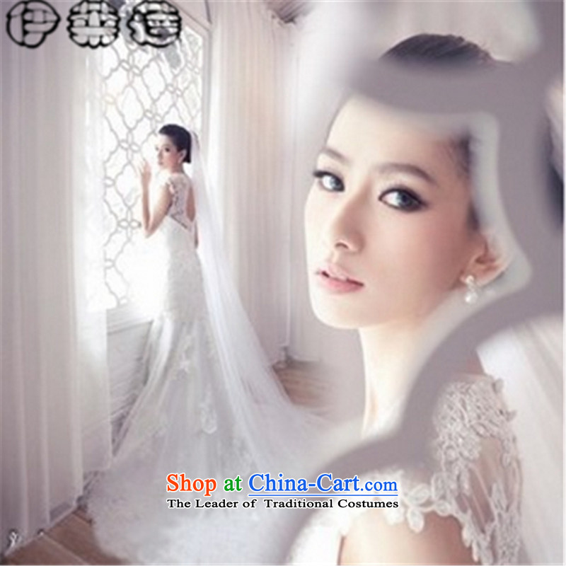 Hirlet lin CHU new stylish 2015 crowsfoot wedding dresses temperament and chest long tail Korean lace large bride Sau San video thin white wedding聽S