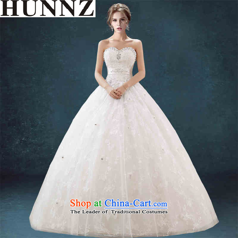 Hunnz 2015 bon bon skirt straps and chest Korean lace minimalist spring and summer new bride wedding White?XL