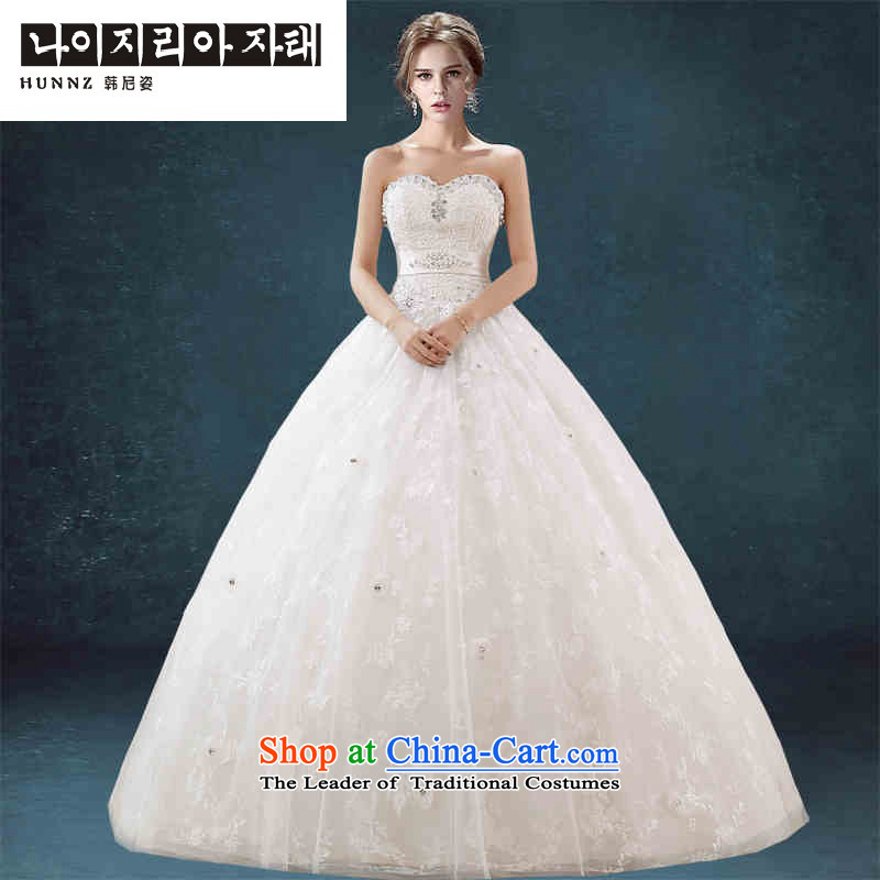 Hannizi 2015 Chic simplicity and chest straps Sau San bon bon skirt white bride wedding White?M