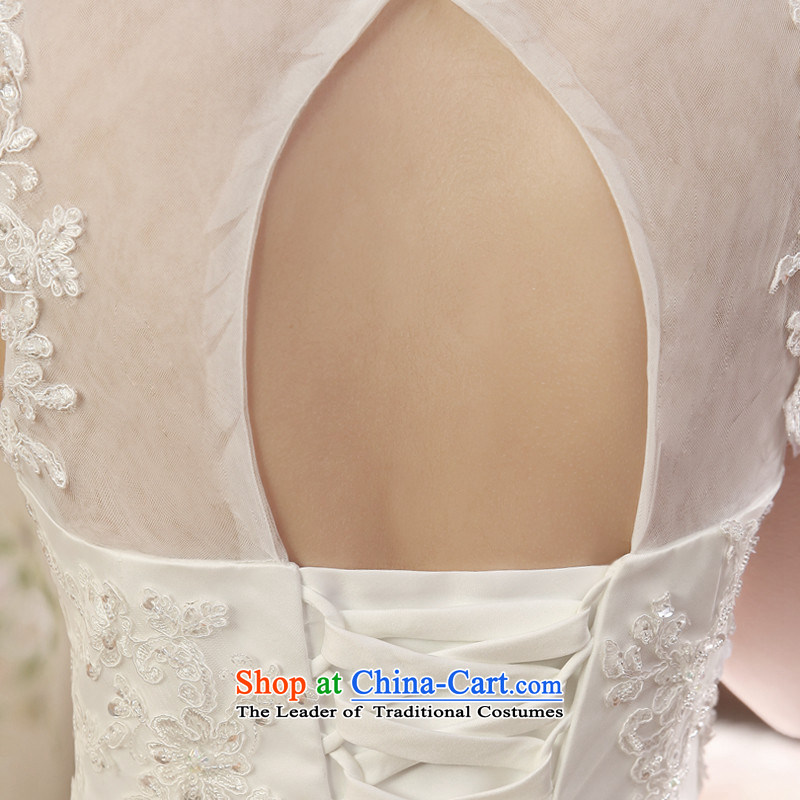 2015 engraving court HUNNZ style lace bon bon skirt a trendy code field shoulder bride wedding white?L